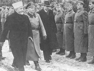 Photo: Mufti Hajj Amin El-Husseini inspects Bosnian Muslim Waffen SS recruits