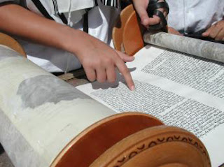 Picture: Reading from a Torah Scroll