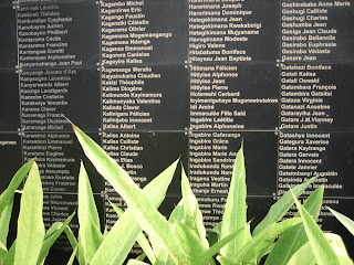 Photo: Rwanda Genocide memorial, with names of the slain listed on it