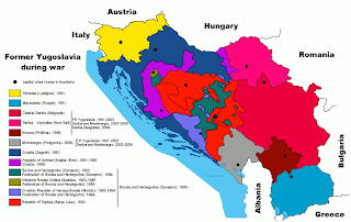 Map: Yugoslavia during the war of the 1990's