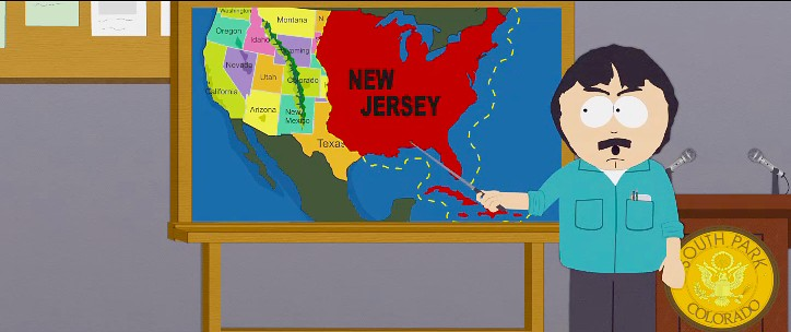 south park new jersey map The Voice Of Vexillology Flags Heraldry South Park S Anti New