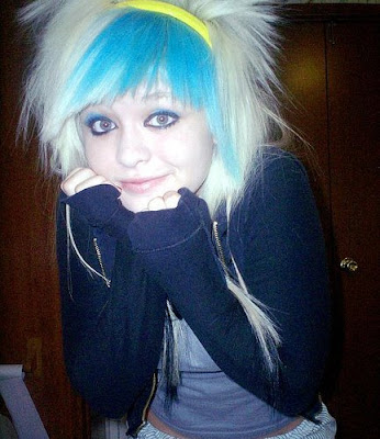scene short hairstyles 2009 red pink and blue hair amazing hairstyles