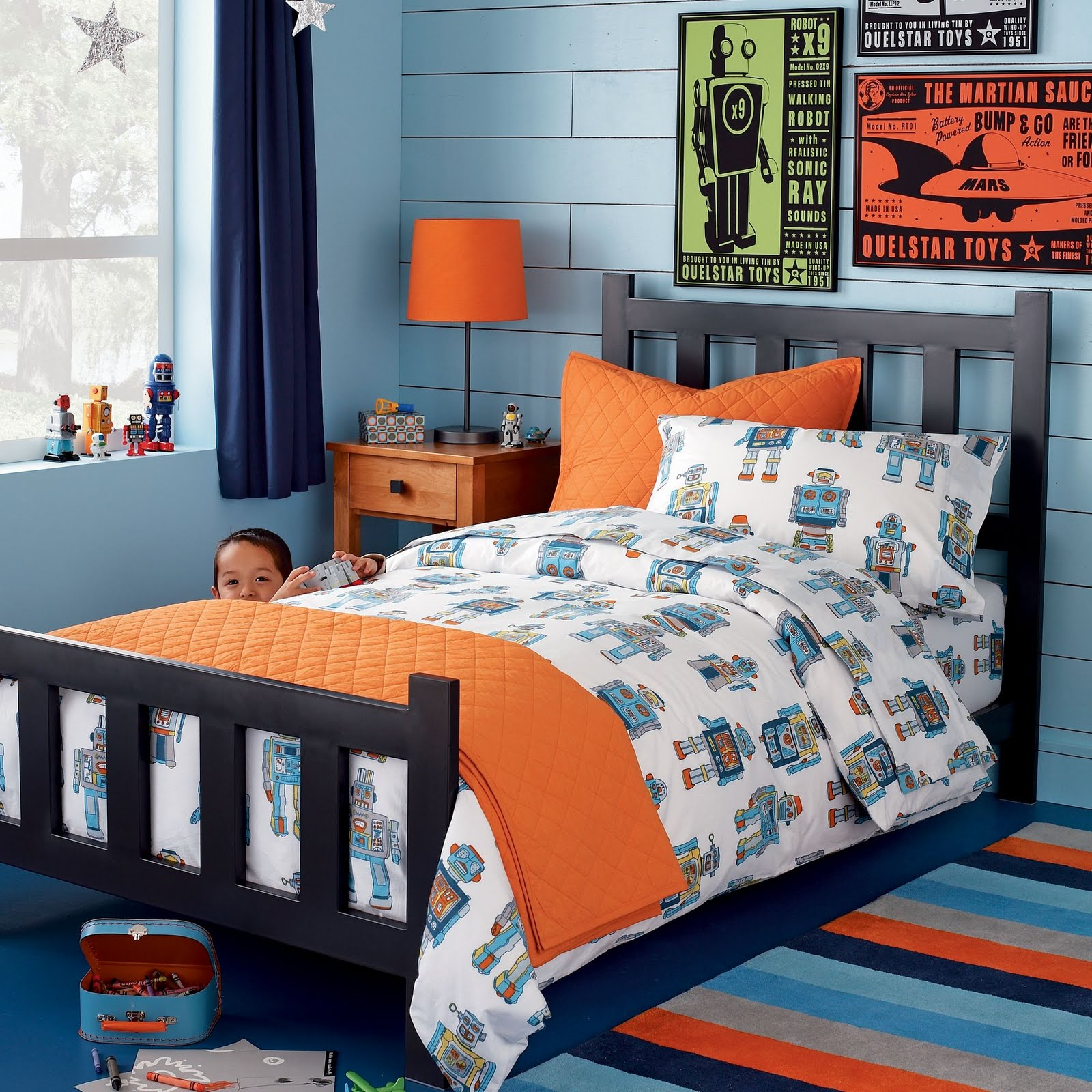 30 Best Navy And Orange Bedroom Images On Pinterest: Love Of Interiors: Orange And Blue