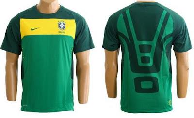 144cbbf80e COMPRANDO E CIA  Camisa Nike Seleção Brasileira de Treino 2010