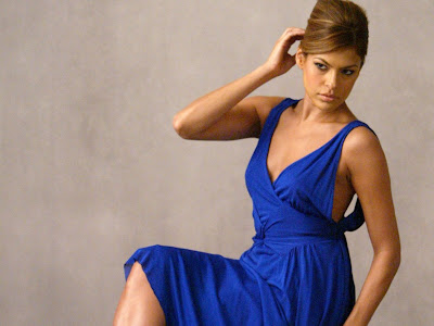Eva Mendes in blue