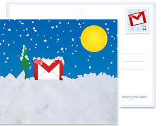 Gmail Holiday PostCard