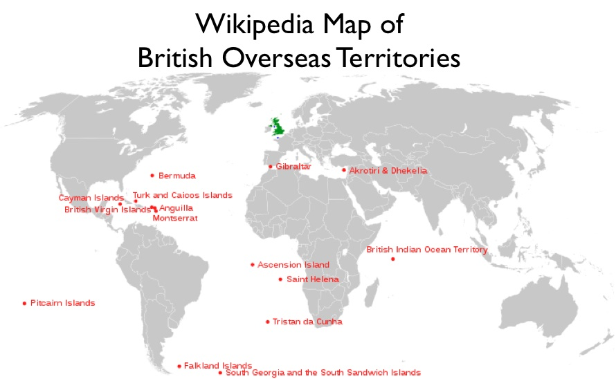 Map Of Uk Overseas Territories.The Peculiarities Of Gibraltar And Other British Overseas Territories