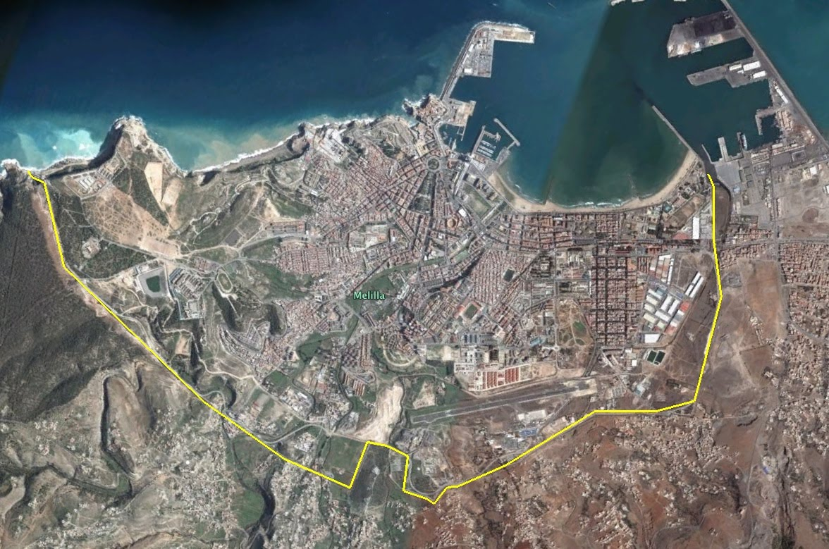 Melilla Spain Map.Geopolitical And Religious Conflict In The Spanish Exclave Of