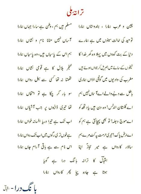 Urdu Poetry: Iqbal