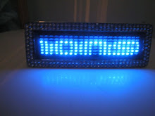 LED word panels in accessories