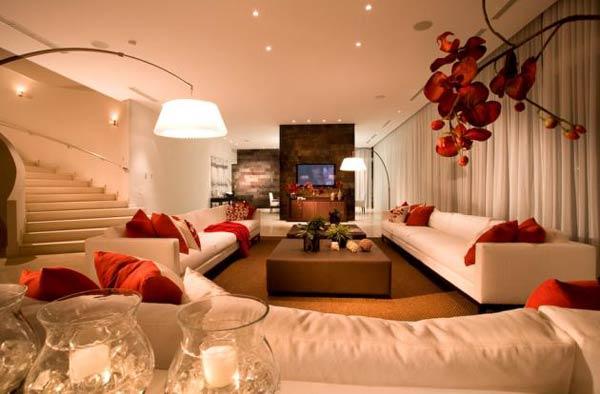 decoração da sala de estar