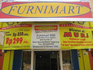 Pembukaan jaringan toko furniture waralaba terbanyak