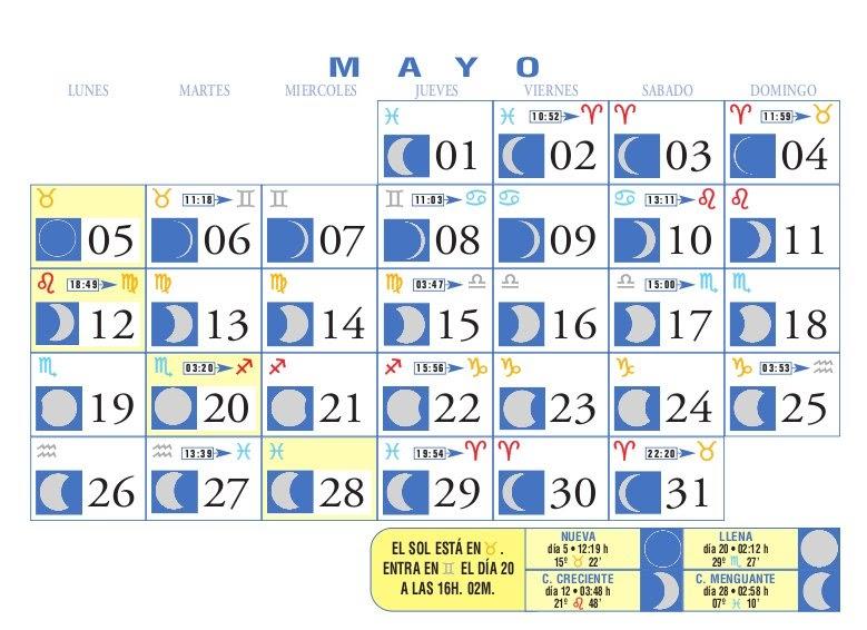 Centro astrologico venezolano calendario lunar mayo 2008 for Calendario lunar hoy