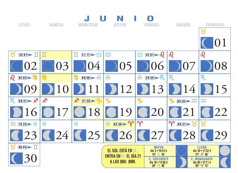 Centro astrologico venezolano calendario lunar junio 2008 for Calendario lunar junio