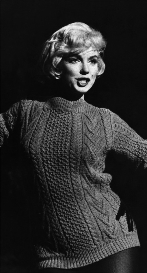 Retrospective  The Marilyn Jumper Marilyn Monroe s classic Aran knit sweater,  recreated by French company Gerard Darel. aa913c6eac23