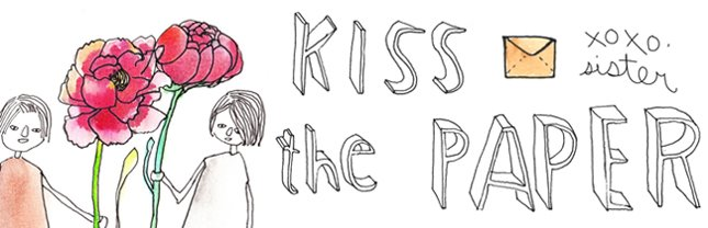 kiss the paper