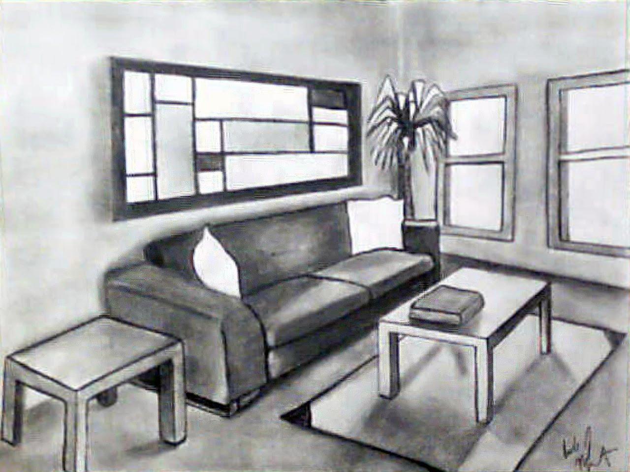 Empty Room Drawing - Home Design Jobs