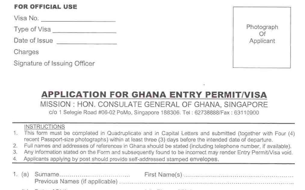Administrative Support How To Apply For Ghana Visa