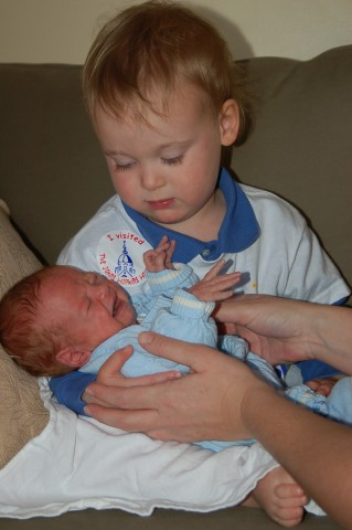 James and his new little brother