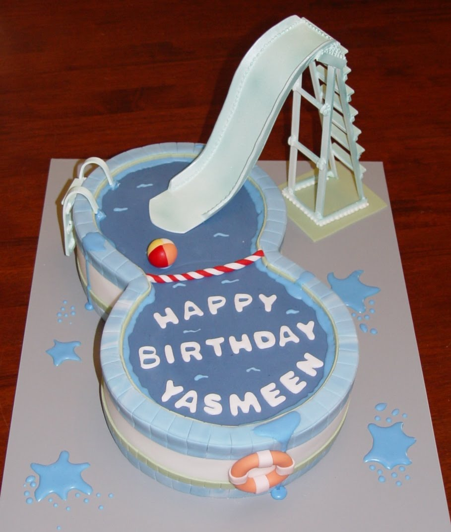 Let Them Eat Cake: No.8 Shaped Swimming Pool With Slide