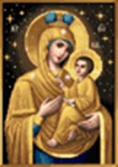Golden Tikhvin Theotokos