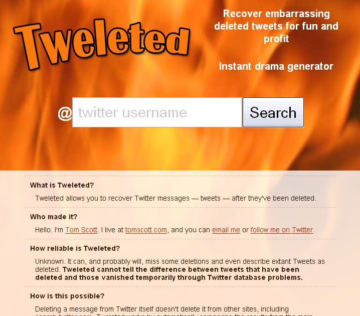 we saw that   : website recovers deleted twitter messages