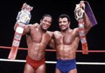 Dad & Tony Atlas as W.W.E. Tag Team Champions