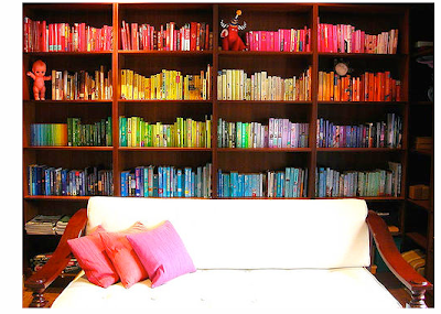 Colour Co-ordinating Bookshelves