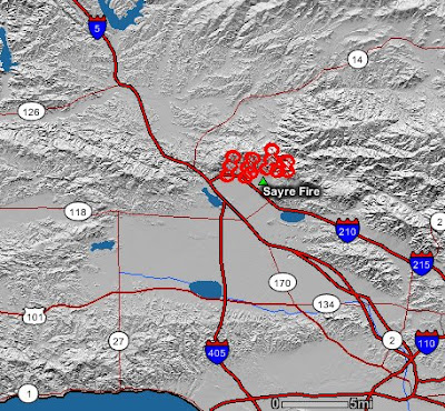 California: Sayre fire near Sylmar, evacuation map   Wildfire Today