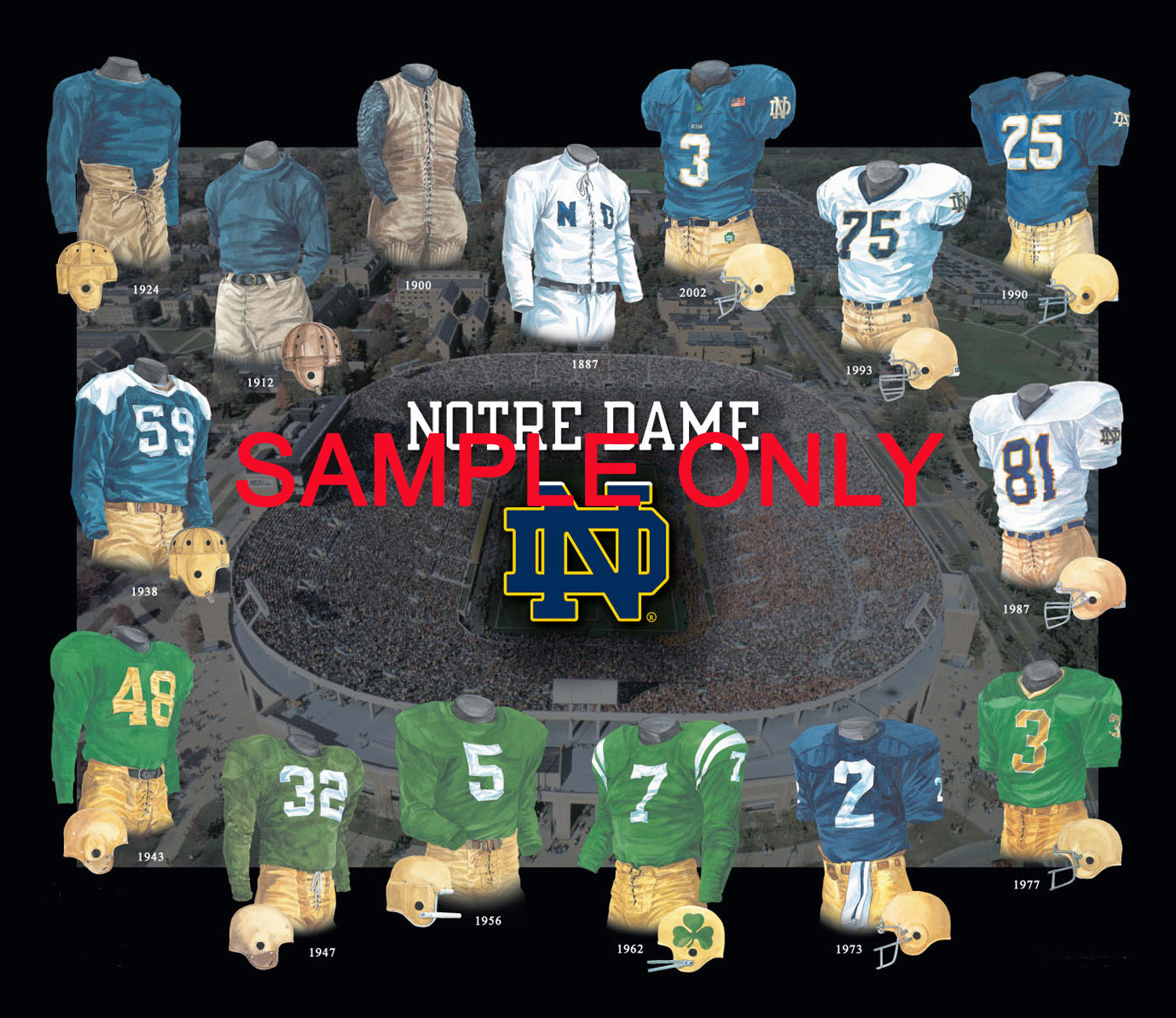 b5121d89d University of Notre Dame Fighting Irish Football Uniform and Team History