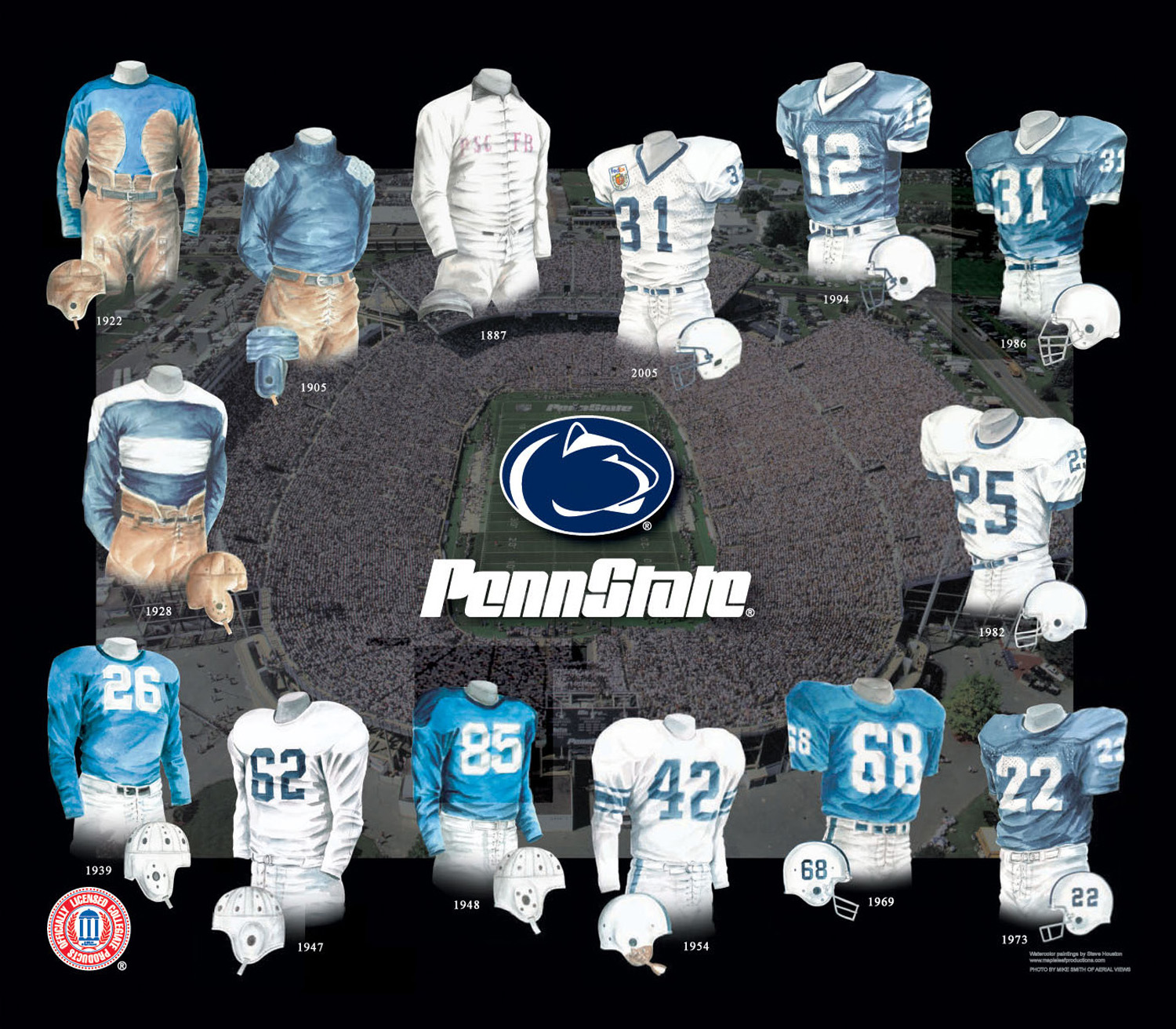 sale retailer 3b020 5f425 Pennsylvania State University Nittany Lions Football Uniform ...