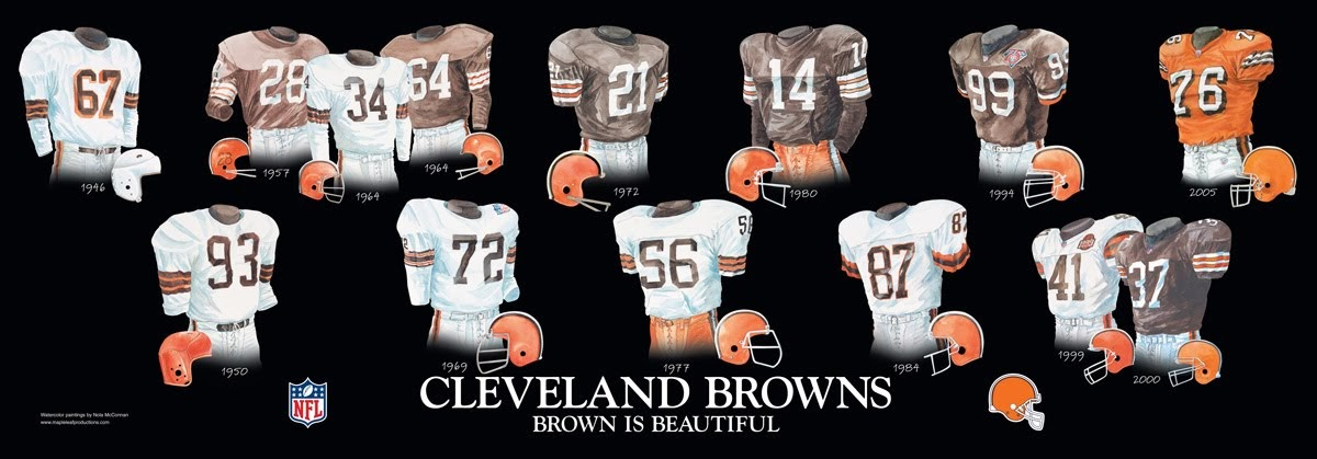 new product c75fb 3e4b8 Cleveland Browns Uniform and Team History | Heritage ...