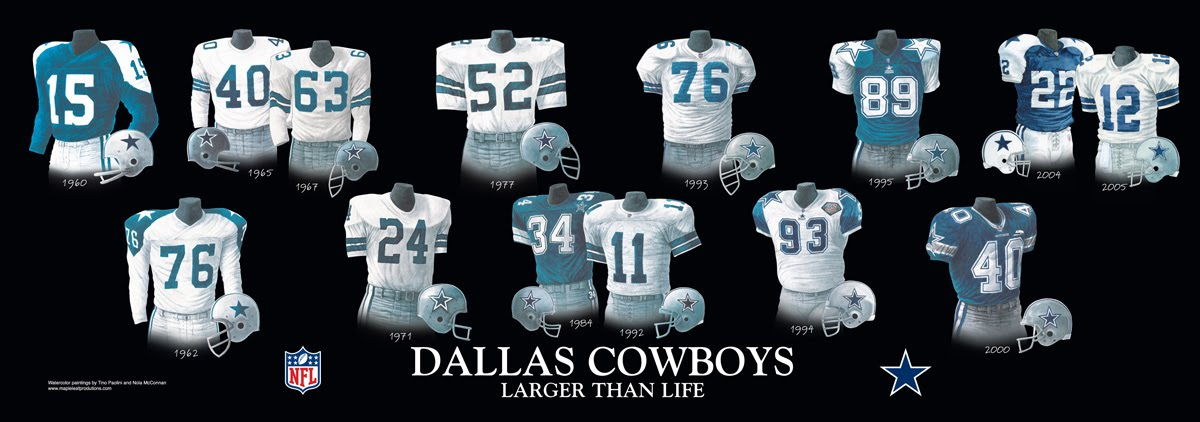 info for c76a3 994d7 Dallas Cowboys Uniform and Team History | Heritage Uniforms ...
