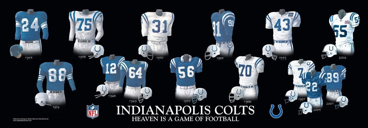 Indianapolis Colts Uniform And Team History Heritage