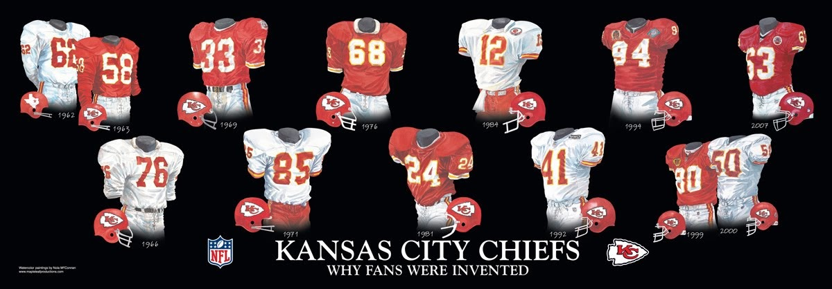 newest 3d663 eec7b Kansas City Chiefs Uniform and Team History | Heritage ...