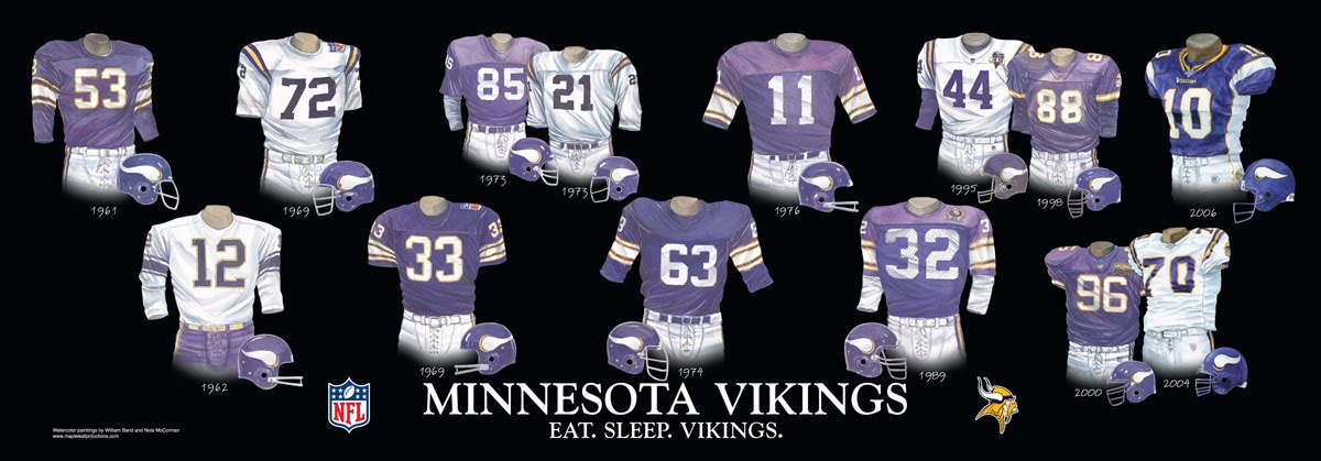 low priced 615e2 4e032 Minnesota Vikings Uniform and Team History | Heritage ...