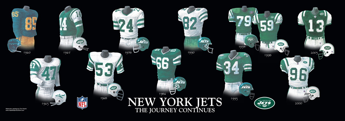 new products 10cd4 903e0 New York Jets Uniform and Team History | Heritage Uniforms ...