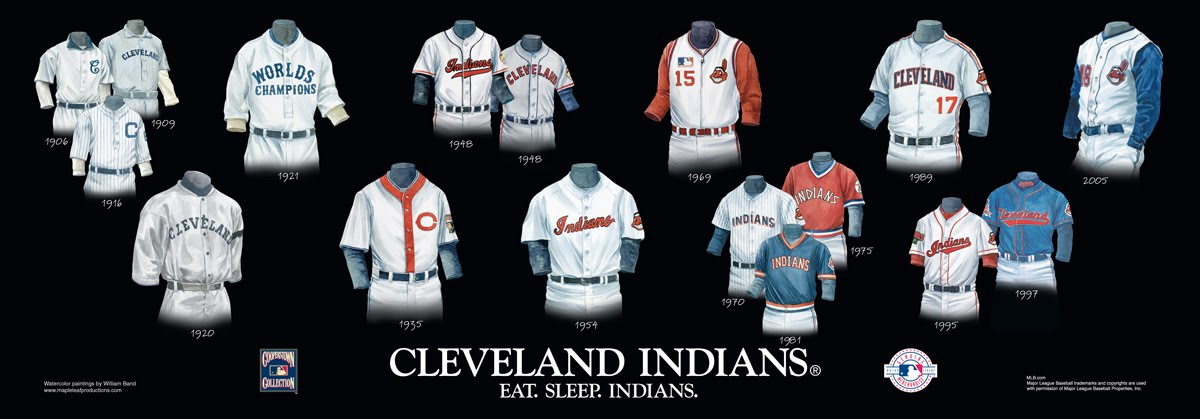Cleveland Indians Uniform and Team History  bf09ecf1a