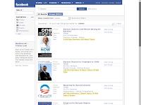 """Bildschirmfoto Facebook Gruppensuche nach """"Obama"""""""
