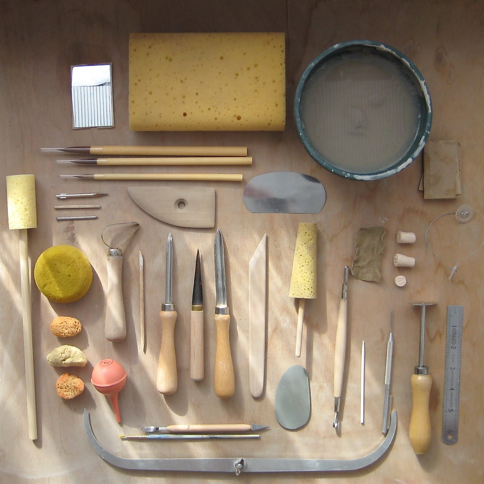 Pots And Paint Pottery Tools