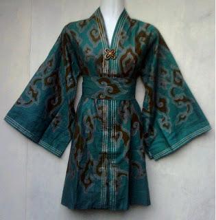 Bezhare Sell Batik Model Bosses Kimono Butterfly Green From