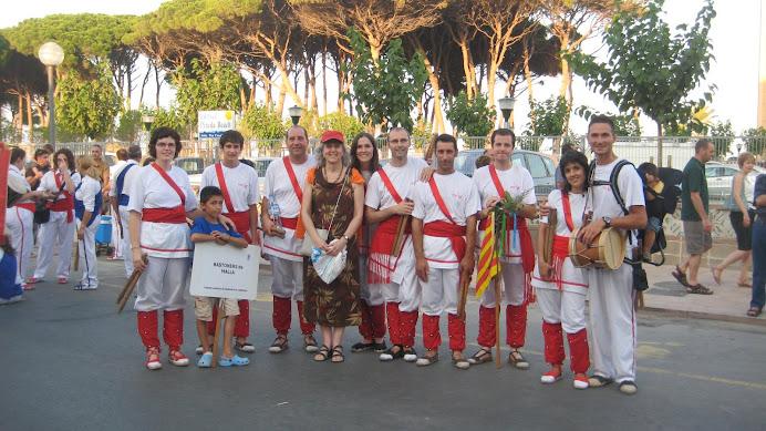 Bastoners de Malla a La Pineda, 33a trobada Nacional de Bastoners
