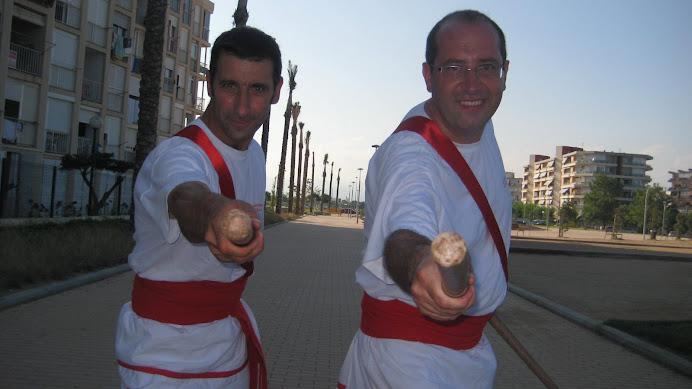Joan Vallbona i Lluís Riera, bastoners