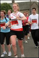 Me running Edinburgh Marathon 2008!
