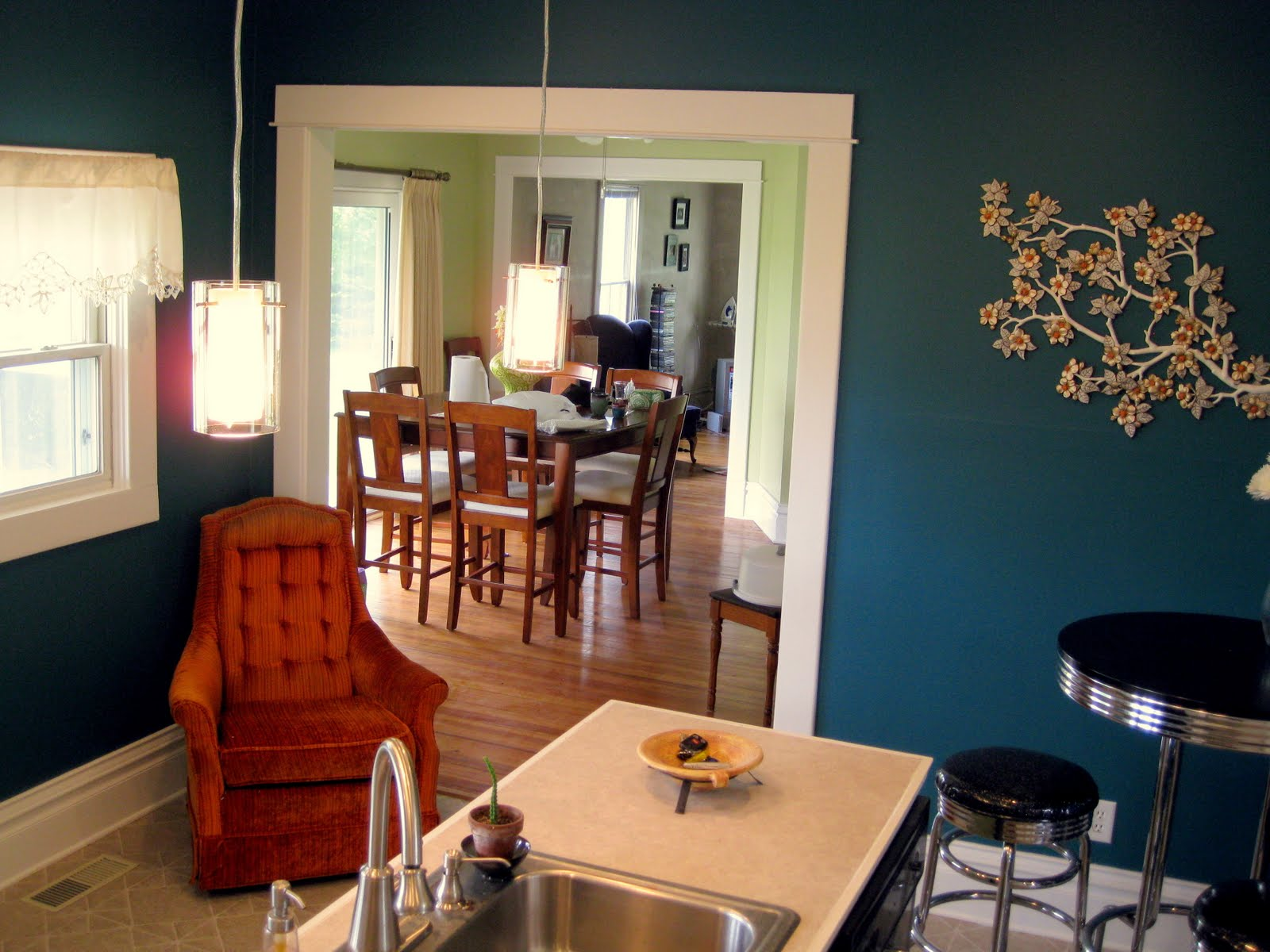 Budget Kitchen Updates Accent Wall And Faux Painted Backsplash Reality Daydream