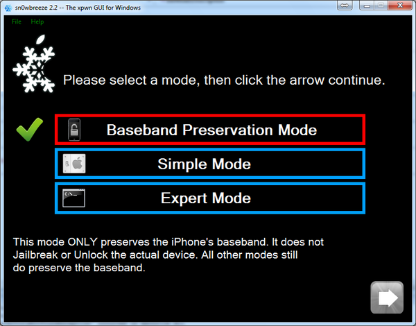 Sn0wbreeze 2.2 is Offering Baseband Preservation Mode !