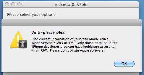 Redsn0w 0.9.7b6 - Redsn0w 0.9.7b6 : correction du bug de Skype