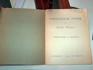 Albert Verwey, Verhalende poëzie; Persephone en Demeter. W. Versluys, Amsterdam 1905