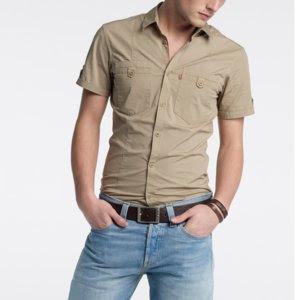 2daa36b36fa14 Camisas beige manga larga marineras para hombre xH4Pd6R - trip ...