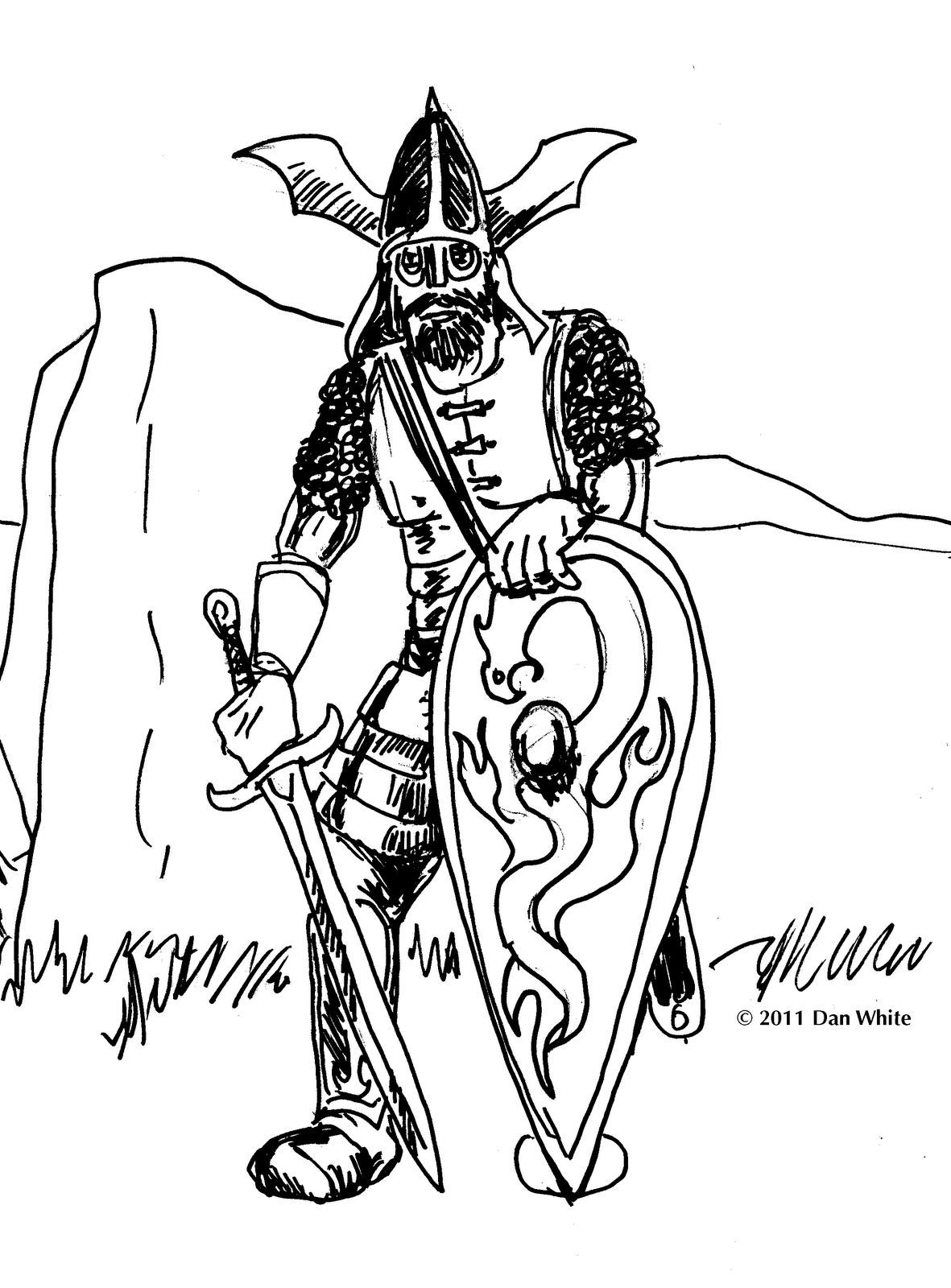 beowulf coloring pages - the gallery for beowulf fighting grendel drawing